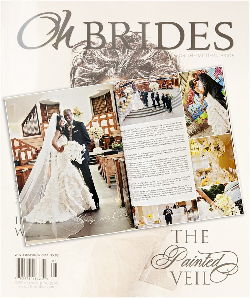 200 Peachtree Wedding   Published in Oh-Brides Magazine